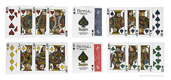 Hesslers Four Color Playing Cards
